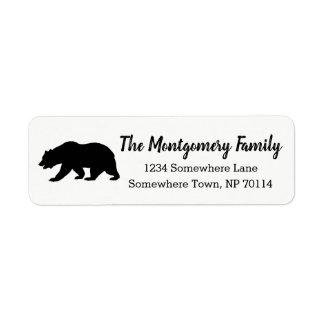 Modern Rustic Black Bear & Family Name