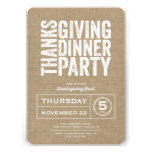 Modern Rustic Burlap Thanksgiving Dinner Party