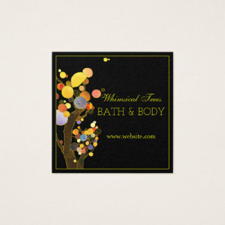 Modern Rustic Country Trees Body & Bath Square Business Card