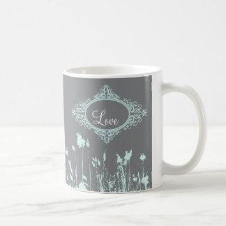 Modern Rustic Country Wedding SaveTheDate Basic White Mug