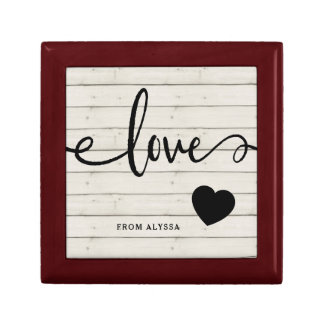 Modern Rustic | Love with Heart Gift Box