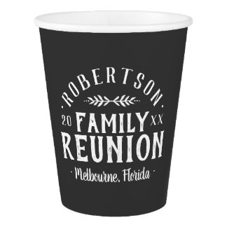 Modern Rustic Personalized Family Reunion Paper Cup