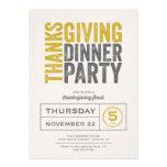 Modern Rustic Thanksgiving Dinner Party Invite