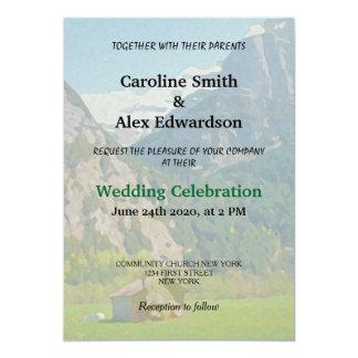 Modern Rustic Vintage Mountain Wedding Card