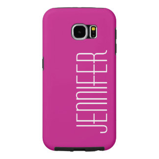 Modern S6 Tough Hot Pink, Personalized Samsung Galaxy S6 Cases