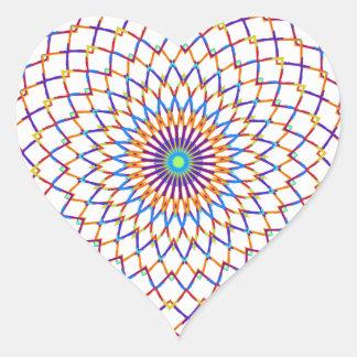 Modern sample heart sticker