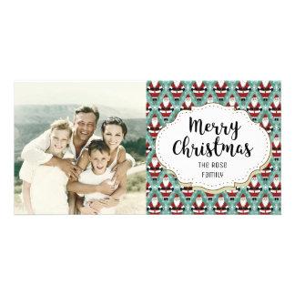 Modern Santa Claus Christmas Picture Photo Card