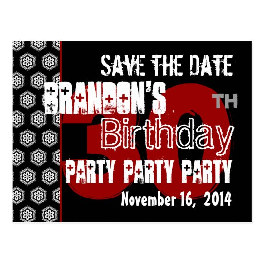 Modern Save the Date 30th Birthday Party R205 Postcard