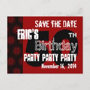 save the date 50th birthday postcards postcards zazzle ca