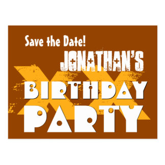 Modern Save the Date ANY YEAR Birthday Party B05 Postcard