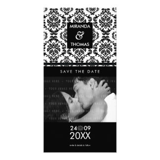 MODERN SAVE THE DATE CARD :: damask colors 10
