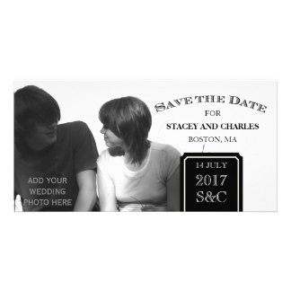 Modern Save the Date Photo Cards Black and White