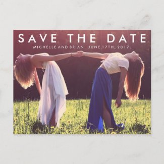 Modern Save the Date Photo Design Announcement Postcard