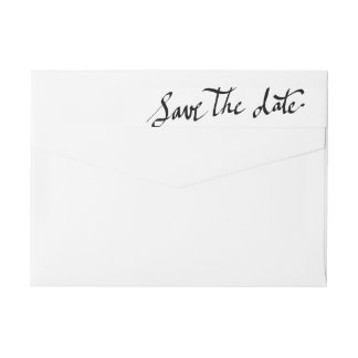 Modern Save The Date Simple Script Typography Wrap Around Label