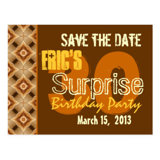 Modern Save the Date Surprise 30th Party G530 Postcard