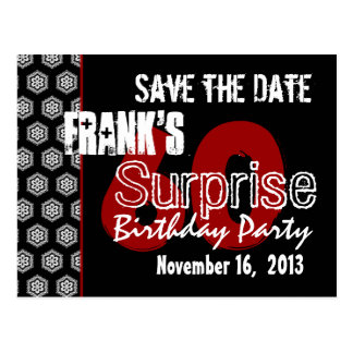 Modern Save the Date Surprise 60th Party W1942 Postcard
