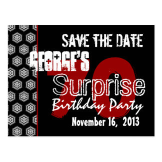 Modern Save the Date Surprise 70th Party W1943 Postcard