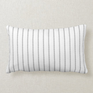 Modern Scalloped stripes, gray and white Lumbar Pillow