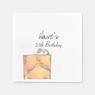 Modern Scotch Glass Paper Napkin