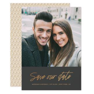 Modern Scrawl | Save our Date Photo Card