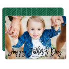 Modern Script   Father's Day Photo Card