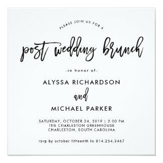 Modern Script | Post Wedding Brunch Invitation