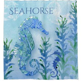 Modern Seahorse Geometric Pattern Beach Sea Ocean