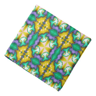 Modern Seamless Abstract Green Pattern Bandana