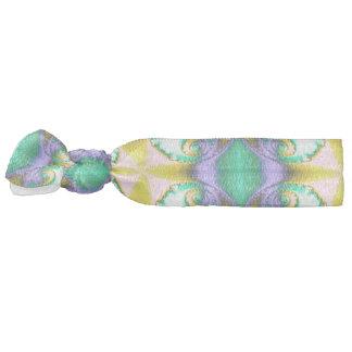 Modern Seamless Abstract Green Pattern Hair Tie