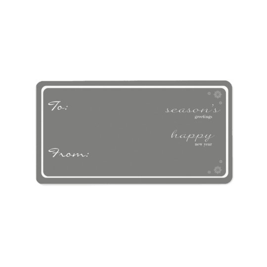Modern Season's Greetings Gift Tag-grey Label