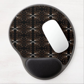 Modern Sepia Pattern Gel Mouse Pad