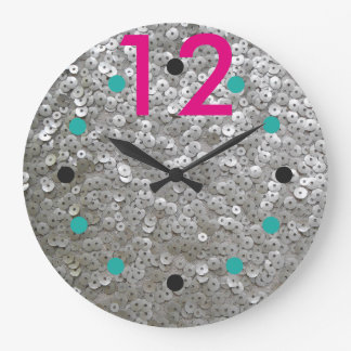Modern Sequined Wall Clock