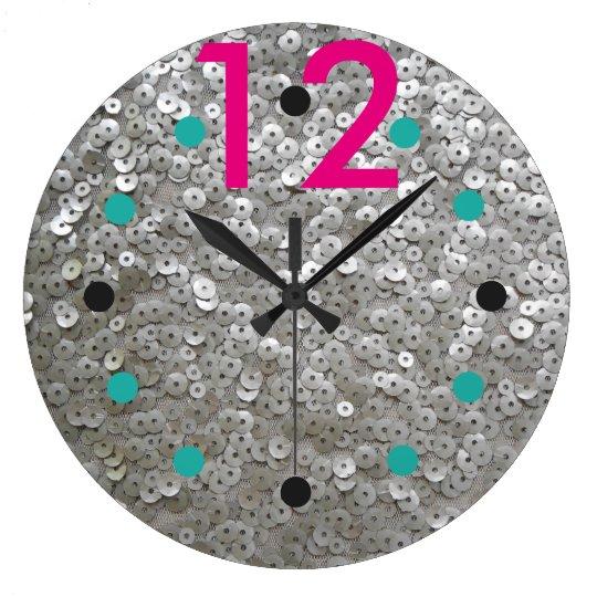 Modern Sequined Wall Clock