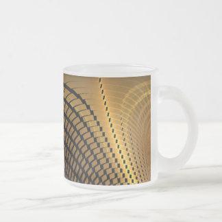 Modern Shaded Yellow 10 Oz Frosted Glass Coffee Mug