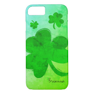 Modern Shamrock Personalized iPhone 7 Case