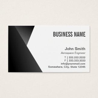 Modern Sharp Aerospace Engineer Business Card