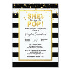 Modern She's Ready to POP Gold Unisex Baby Shower Card