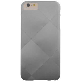 Modern Shiny Checkered Metal Gray Barely There iPhone 6 Plus Case