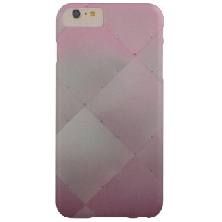 Modern Shiny Checkered Metal Pink Barely There iPhone 6 Plus Case