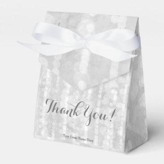 Modern Silver Bokeh Glitter Star Steams Favor Box