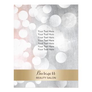 Modern Silver & Gold Beauty Salon Brochures Full Color Flyer