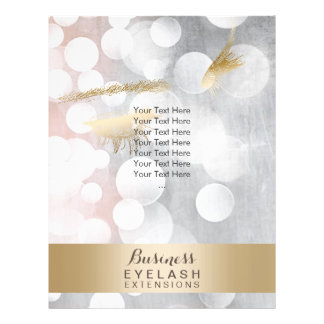 Modern Silver & Gold Eyelash Extensions Brochures Flyer Design