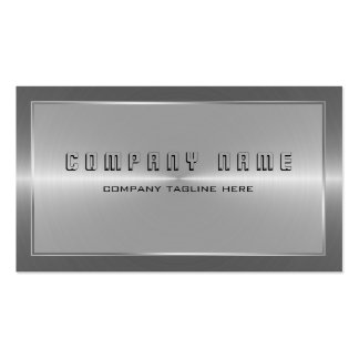 Modern Silver Gray Stainless Steel Look Pack Of Standard Business Cards