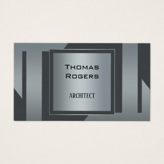 Modern Silver Grey Architecture Business Card