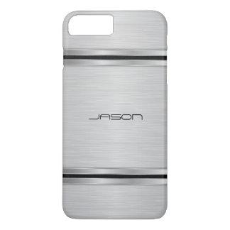 Modern Silver Metallic Design iPhone 8 Plus/7 Plus Case