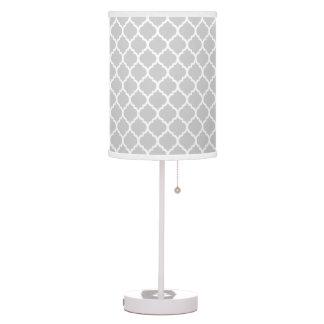 Modern Silver Quatrefoil Desk Lamp