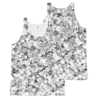 Modern Silver Sparkle All-Over-Print Tank Top