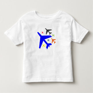 Modern Simple Airplane T-Shirt for Kids