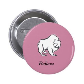 Modern, Simple & Beautiful Hand Drawn Bear 2 Inch Round Button