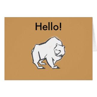 Modern, Simple & Beautiful Hand Drawn Bear Card